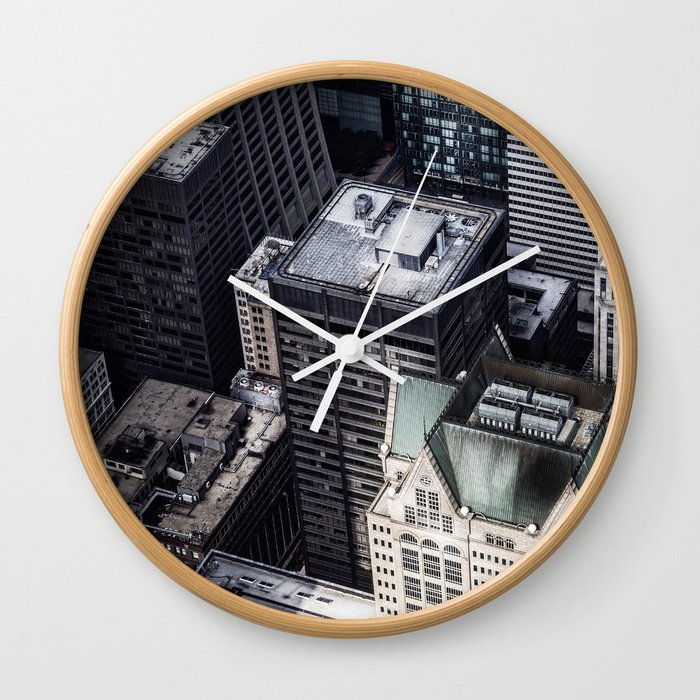 BUILDINGS - CITY - PHOTOGRAPHY Wall Clock