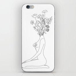Minimal Line Bloom iPhone Skin