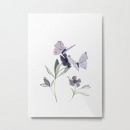 Flowers and butterflies 4 Metal Print
