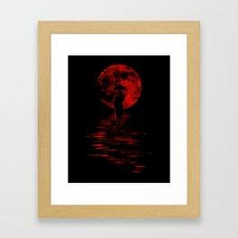 Rainman in Red Framed Art Print