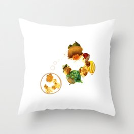 Abeja and company Throw Pillow