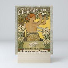 Plakat savon au lait de lys  vintage Mini Art Print