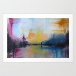 bstract lake Art Print