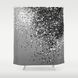 Sparkling Silver Gray Lady Glitter #1 #shiny #decor #art #society6 Shower Curtain