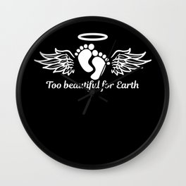 In Memory Of Too Beautiful For Earth Wall Clock