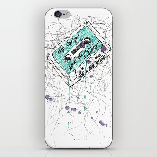 Stop Crying About The Music Industry iPhone & iPod Skin