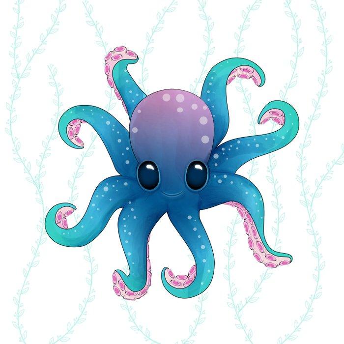 Octopus friend Duvet Cover