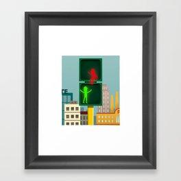 Let's be friends! Framed Art Print