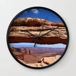 Mesa Arch View Wall Clock