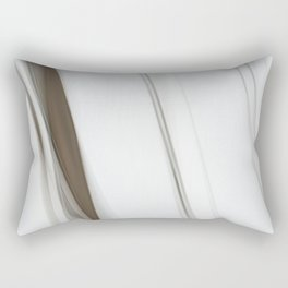 Abstract Grey Lines on White Rectangular Pillow