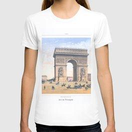 Paris art print Paris Decor office decoration vintage decor ARC DE TRIOMPHE of Paris T-shirt