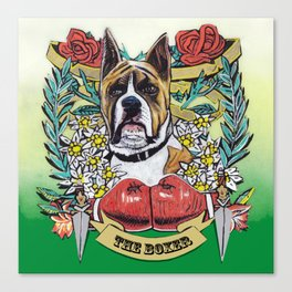 The Boxer (Can't Be Beat) Canvas Print