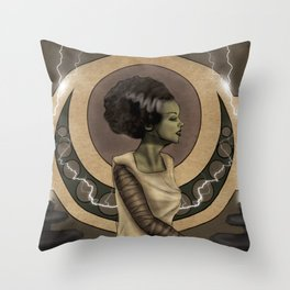 Bride of Frankenstein Nouveau Throw Pillow