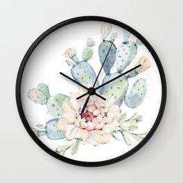 Perfect Cacti Rose Wall Clock