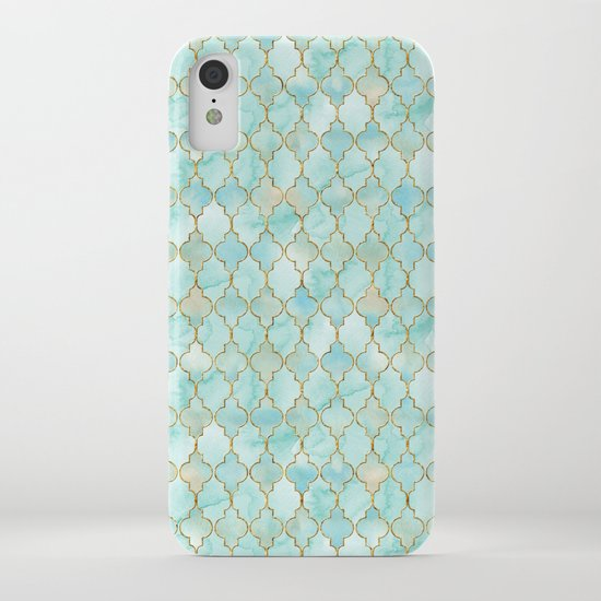 Luxury Aqua and Gold oriental pattern by betterhome