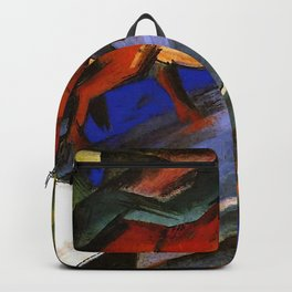 """Franz Marc """"Red and Blue Horses"""" Backpack"""