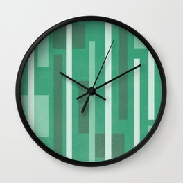 Lines and Lines Green Blue Wall Clock