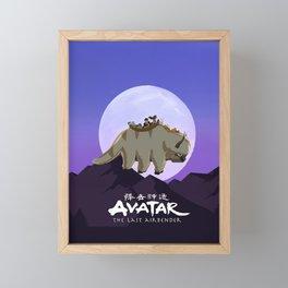 Avatar on Appa The Last Airbender Framed Mini Art Print