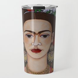 Frida with butterflies Travel Mug