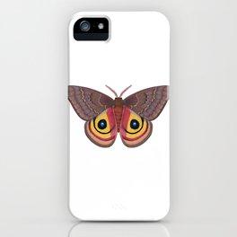 io moth (Automeris io) female specimen 1 iPhone Case