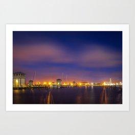 Gulfport Harbor before Sunrise Art Print