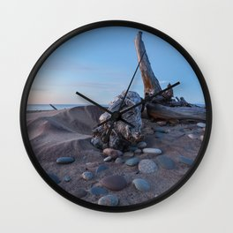 Whitefish Point Beach on Lake Superior Wall Clock