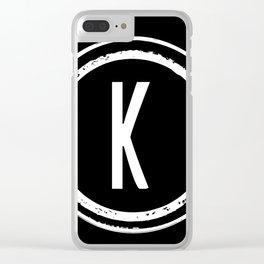 Letter K Monogram Clear iPhone Case