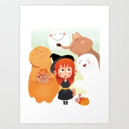 HALLOWEEN- trick ot treat? Art Print