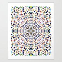 Coloful Doodle Art Print