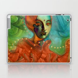 """Exotic woman in green and orange tropical jungle"" Laptop & iPad Skin"
