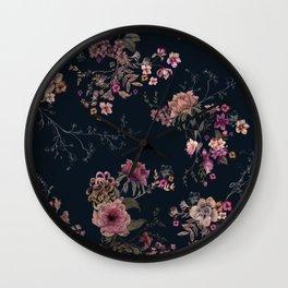 Japanese Boho Floral Wall Clock
