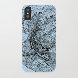 i only surf on SHARKS! iPhone Case