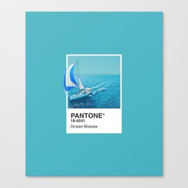 PANTONE SERIES – OCEAN BREEZE Canvas Print
