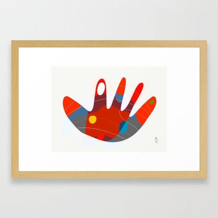 Hand_02 Framed Art Print