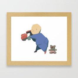 Rompers Boxer Framed Art Print