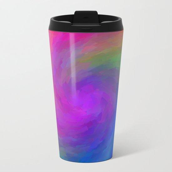 Twister Of Color Metal Travel Mug