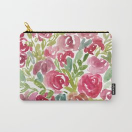 Maya's Garden Watercolor Painting Carry-All Pouch