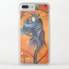 Gamaun The Prophetic Bird With Ruffled Feathers Clear iPhone Case