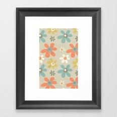 flowers pattern Framed Art Print