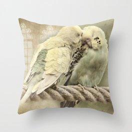 Budgie Buddies Throw Pillow