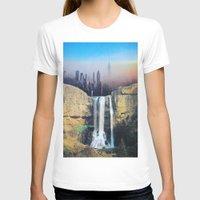 manhattan T-shirts featuring Manhattan Falls by John Turck