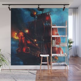 Sailing Through the Night Wall Mural