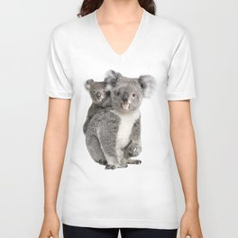 Koala bear and her baby Unisex V-Neck