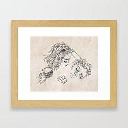 Good morning, I love you. Framed Art Print