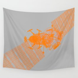 Explorer Orange and Grey Wall Tapestry