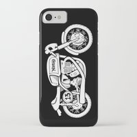 cafe racer iPhone & iPod Cases featuring Norton Model 30 - Cafe Racer series #2 by Daniel Feldt