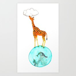 Eating Clouds Day Art Print
