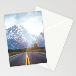 Mountain Road - Grand Tetons Nature Landscape Photography Stationery Cards