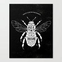 bee Canvas Prints featuring BEE by BMD Design