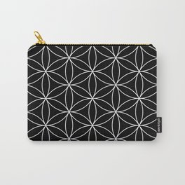 Flower of Life Black & White Carry-All Pouch